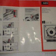 Catálogos publicitarios: ANTIGUO MANUAL INTERRUPTOR HORARIO AEG TELEFUNKEN AÑOS 70. Lote 41306419