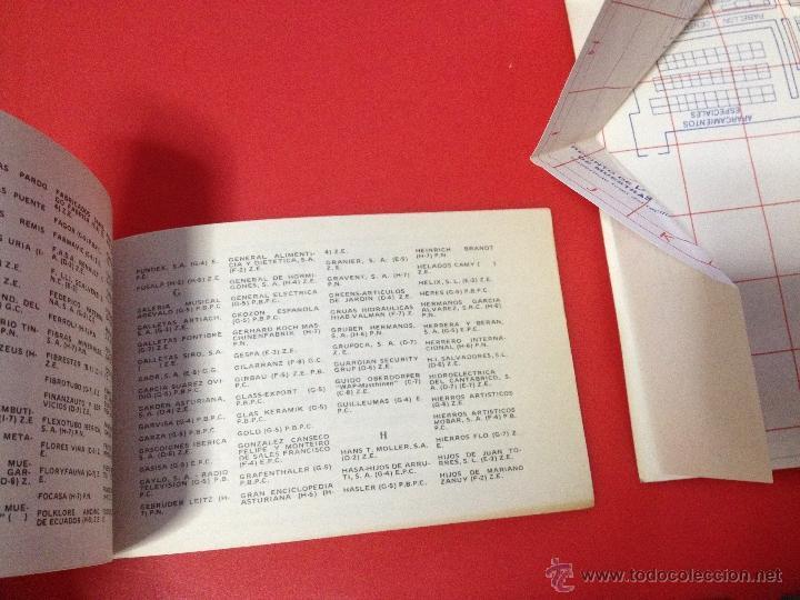 Catálogos publicitarios: XXII FERIA NACIONAL DE MUESTRAS DE ASTURIAS 1978 PLANO RECINTO FERIAL - Foto 3 - 41313417