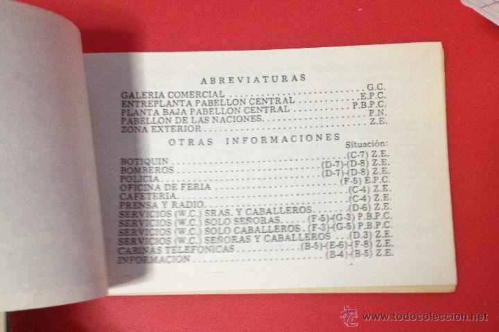 Catálogos publicitarios: XXII FERIA NACIONAL DE MUESTRAS DE ASTURIAS 1978 PLANO RECINTO FERIAL - Foto 9 - 41313417