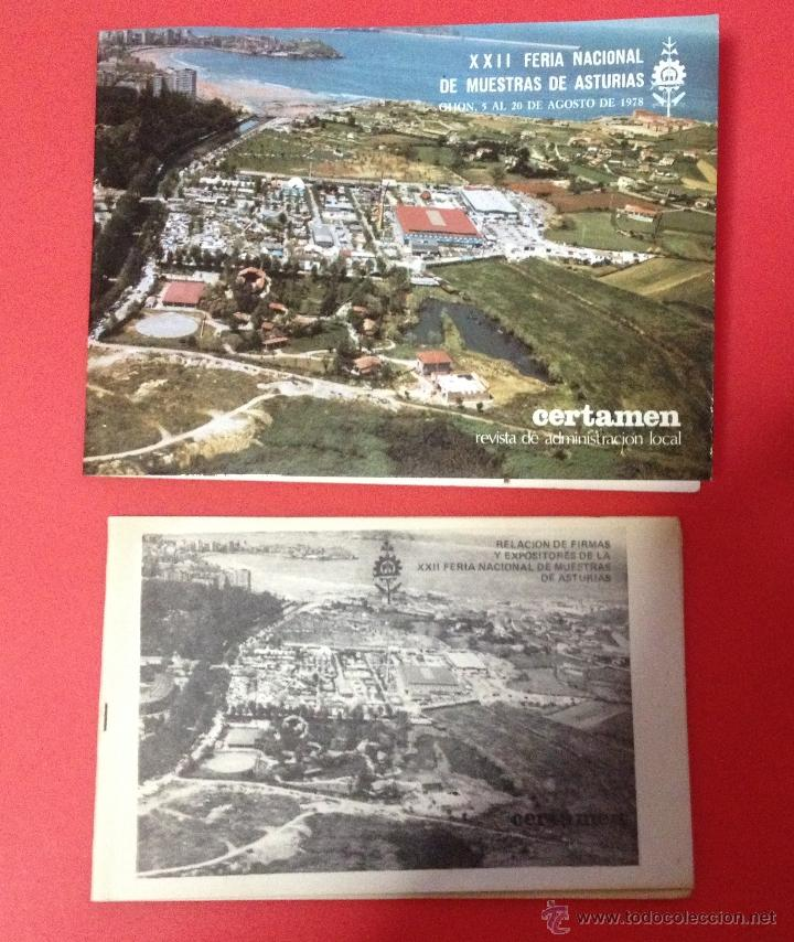 Catálogos publicitarios: XXII FERIA NACIONAL DE MUESTRAS DE ASTURIAS 1978 PLANO RECINTO FERIAL - Foto 10 - 41313417