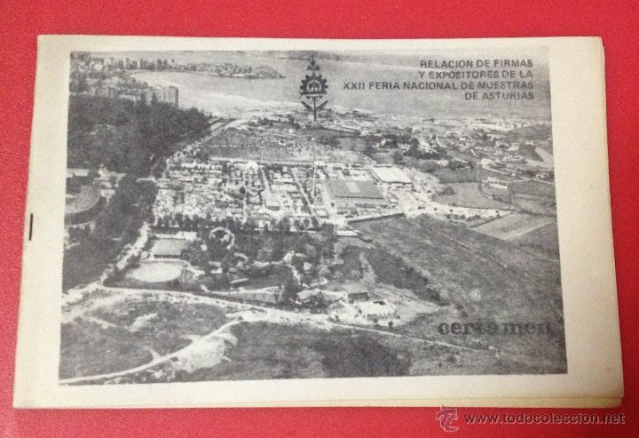 Catálogos publicitarios: XXII FERIA NACIONAL DE MUESTRAS DE ASTURIAS 1978 PLANO RECINTO FERIAL - Foto 11 - 41313417