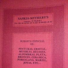 Catálogos publicitarios: CATALOGO SUBASTA ARTE-SASKIA SOTHERBY'S-06-1977 AÑO. Lote 41320235