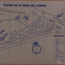 Catálogos publicitarios: PLANO DE LA III FERIA DEL CAMPO 1956 Y PUBLICIDAD PABELLÓN TOAST. Lote 41323800