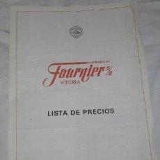 Catálogos publicitarios: LISTA DE PRECIOS DE HERACLIO FOURNIER, DE 1989. Lote 41350275