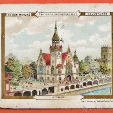Catálogos publicitarios: TARJETA PUBLICIDAD - AU BON MARCHE / PARIS - EXPOSICION UNIVERSAL DE 1900 - RD12. Lote 41393440