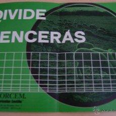 Catálogos publicitarios: DIVIDE Y VENCERAS CATÁLOGO DE VALLAS Y CERCAS DE 1971. Lote 41420615