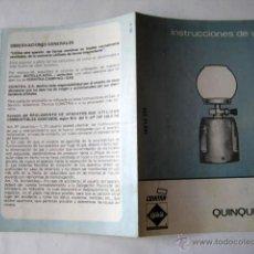 Catálogos publicitarios: FOLLETO PUBLICIDAD : QUINQUEGAS. COINTRA. 1981. Lote 41440790