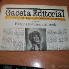 Catálogos publicitarios: CATÁLOGO GACETA EDITORIAL. Lote 41757231