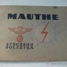 Catálogos publicitarios: CATÁLOGO DE RELOJES MAUTHE 1937 – SYNCHRON DOLEKTRA. Lote 42055442