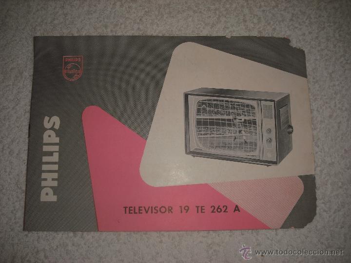 PHILIPS PUBLICIDAD TELEVISOR 19 TE 262 A (Coleccionismo - Catálogos Publicitarios)
