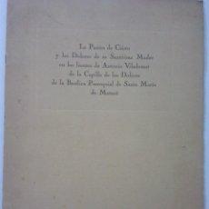 Catálogos publicitarios: MATARO - LA PASION DE CRISTO Y LOS DOLORES DE LA SANTISIMA MADRE - LIENZOS DE ANTONIO VILADOMAT. Lote 42414732