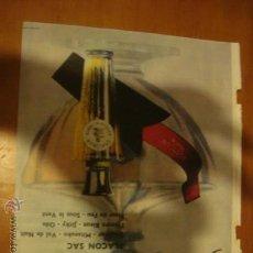 Catálogos publicitarios: MUY ANTIGUA HOJA PUBLICIDAD, PUBLICITARIA, PERFUMES FLACON SAC, GUERLAIN PARIS. Lote 33341594