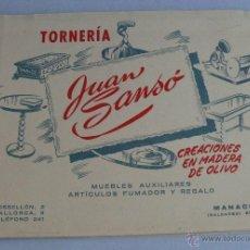 Catálogos publicitarios: UNICO! GRAN CATALOGO MUEBLES Y REGALO EN MADERA DE OLIVO JUAN SANSO MANACOR MALLORCA TORNERIA. Lote 42543070