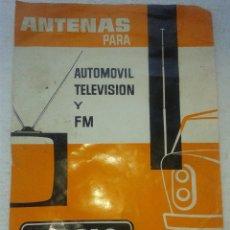 Catálogos publicitarios: ANTIGUO CATALOGO ANTENAS ANGLO AÑO 1967. Lote 42855893