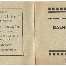 Catálogos publicitarios: BALNEARIS AIGUES MINERALS. ESTACIONS TERMALS A CATALUNYA. TEMPORADA 1930. 8ª. 8 PGS.. Lote 42885789