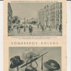 Catálogos publicitarios: PUBLICIDAD SOMBREROS Y BOLSOS MAGRIÑA. Lote 42932596