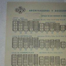 Catálogos publicitarios: ANTIGUO CATALOGO SISTEMA Y ARCHIVOS DSAV AOS 70. Lote 42949870