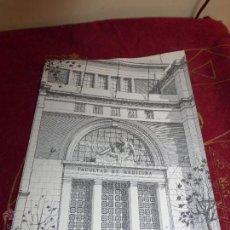 Catálogos publicitarios: FACULTAD DE MEDICINA DE VALENCIA ANTIGUA CARPETA CON FOTOS Y PUBLICIDAD DE MEDICAMENTO TERRAMICINA. Lote 42983752