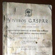 Catálogos publicitarios: CATÁLOGO GENERAL Nº 23 DE VIVEROS GASPAR DE CALATAYUD EN ZARAGOZA, GRÁFICAS RUIZ 1962. Lote 42997318