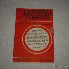 Catálogos publicitarios: CATALOGO Nº 172 LIBRERIA FONTANA. Lote 43393609