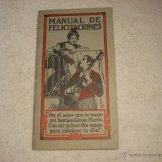 Catálogos publicitarios: MANUAL DE FELICITACIONES CON PUBLICIDAD DE PILDORASDE VIDA DEL DR, ROSS. Lote 43656515