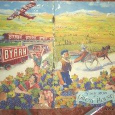 Catálogos publicitarios: BONITO CATALOGO PUBLICIDAD VINO BYRRH . HISTORIA FOTOS FABRICA 12 PAG . ILUSTRACIONES. Lote 43739055