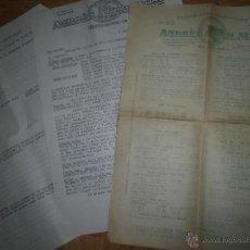 Catálogos publicitarios: ANDRE ARCH MILA CARNE TRIPAS EMBUTIDOS BARCELONA CATALOGO PRECIOS 1963 Y SOBRES CON SELLOS. Lote 43865344
