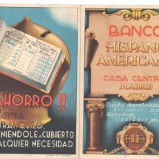 Catalogues publicitaires: CATALOGO DIPTICO PUBLICITARIO BANCO HISPANO AMERICANO CASA CENTRAL MADRID - RIEUSSET SA BARCELONA. Lote 43914559