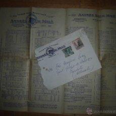 Catálogos publicitarios: ARCH MILA CATALOGO SURTIDO Y PRECIOS 1957 MARCA TORO BARCELONA CARNES EMBUTIDOS CARTA Y SELLO. Lote 43966793