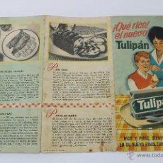 Catálogos publicitarios: TULIPAN TRIPTICO PUBLICITARIO 1962. Lote 44080460