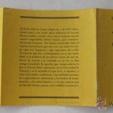Catálogos publicitarios: FOLLETO PUBLICIDAD : CONCIERTO CONMEMORATIVO DEL 30 ANIVERSARIO. ORFEÓN UNIVERSITARIO. 1978 VALENCIA. Lote 44184054