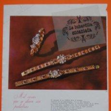 Catálogos publicitarios: PUBLICIDAD ORIGINAL - RELOJ OMEGA - 1958 - JOYERIA ALDAO MADRID - . Lote 44377407