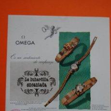 Catálogos publicitarios: PUBLICIDAD ORIGINAL - RELOJ OMEGA - 1957 - JOYERIA ALDAO MADRID -. Lote 44377757