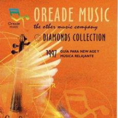Catálogos publicitarios: CATALOGO OREADE MUSIC DIAMONDS COLLECTION. 1997. Lote 44527030