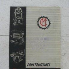 Catálogos publicitarios: CATALOGO PUBLICITARIO CONSTRUCCIONES MENNA CLARAMUNT SABADELL MAQUINARIA INDUSTRIAL CARPINTERIA. Lote 44609339
