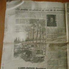 Catálogos publicitarios: JAEN 1963 PAGINA DIARIO - REVALORIZAR USO DE LA MANTILLA - EL CORTE ITALIANO - PUBLICIDAD LAND ROVER. Lote 44668202