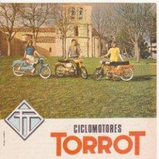 Catálogos publicitarios: PUBLICIDAD ORIGINAL DE PRENSA AÑOS 60 CICLOMOTORES TORROT VITORIA 18 X 13 CM. Lote 44756937