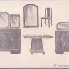 Catálogos publicitarios: ALBUM DEL MUEBLE LAMINA ART DECO 1905 CARPINTERIA ARTISTICA MIGUEL SEGUI SERIE A Nº 18 31 X 20 CM. Lote 44837845