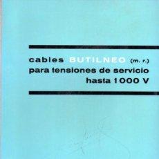 Catálogos publicitarios: CATALOGO PIRELLI, CABLES BUTILNEO,1965. Lote 45000558