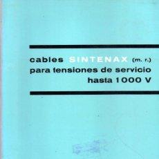 Catálogos publicitarios: CATALOGO PIRELLI, CABLES SINTENAX,1965. Lote 45000578