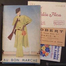 Catálogos publicitarios: CATALOGO DE NOVEDADES Y PRECIOS DE -AUN BON MARCHÉ- PARIS. DEL AÑO 1934, MAS TARJETAS. Lote 45013167