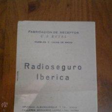 Catálogos publicitarios: PEQUEÑO CATALOGO DE PRECIOS RECEPTOR U S ROYAL MUEBLES Y CAJAS DE RADIO RADIOSEGURO IBERICA MADRID. Lote 45024245
