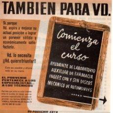 Catálogos publicitarios: PUBLICIDAD AÑOS 60 INSTITUTO AMERICANO. Lote 45041682