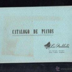 Catálogos publicitarios: CATALOGO DE PIANOS. LA PREDILECTA. HABANA, CUBA. ILUSTRADO CON MODELOS Y CARACTERISTICAS. VER FOTOS.. Lote 64171950