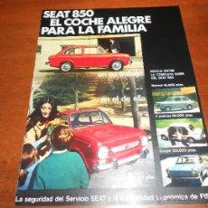 Catálogos publicitarios: PUBLICIDAD PRENSA AÑOS 60: SEAT 850. Lote 45247969