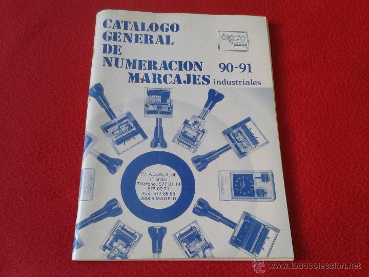 CATALOGO GENERAL DE NUMERACION MARCAJES INDUSTRIALES 90-91 DIGITO (Coleccionismo - Catálogos Publicitarios)