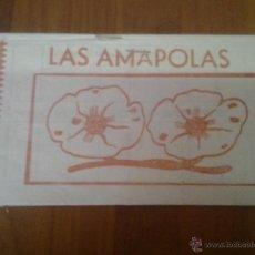 Catálogos publicitarios: LIBRETA CUPONES SELLOS LAS AMAPOLAS PUBLICIDAD MURCIA. Lote 45652434
