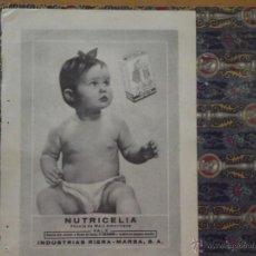 Catálogos publicitarios: PUBLICIDAD NUTRICELIA - AQUA VELVA ABRIL DE 1956. Lote 45745201