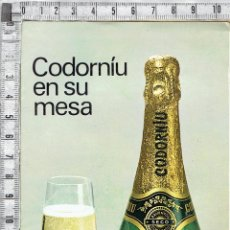 Catálogos publicitarios: CATALOGO PUBLICITARIO CAVAS CODORNIU Y SUS VARIEDADES.. Lote 45823996