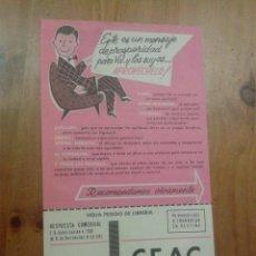 Catálogos publicitarios: FOLLETO PUBLICIDAD CEAC AÑOS 60 - 1961. Lote 45881906